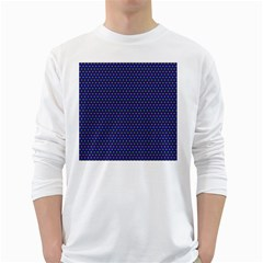 Fractal Art Honeycomb Mathematics White Long Sleeve T Shirts