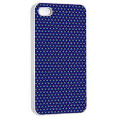 Fractal Art Honeycomb Mathematics Apple Iphone 4/4s Seamless Case (white)