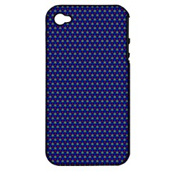 Fractal Art Honeycomb Mathematics Apple Iphone 4/4s Hardshell Case (pc+silicone)
