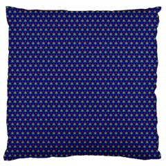 Fractal Art Honeycomb Mathematics Large Flano Cushion Case (one Side)