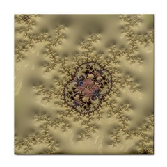 Fractal Art Colorful Pattern Tile Coasters