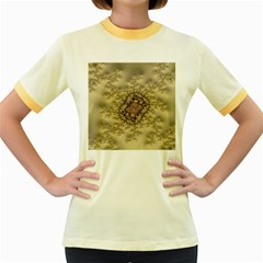 Fractal Art Colorful Pattern Women s Fitted Ringer T Shirts
