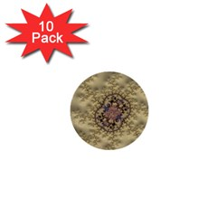 Fractal Art Colorful Pattern 1  Mini Buttons (10 pack)