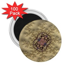 Fractal Art Colorful Pattern 2.25  Magnets (100 pack)