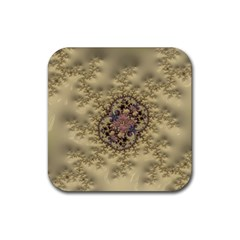 Fractal Art Colorful Pattern Rubber Square Coaster (4 Pack)
