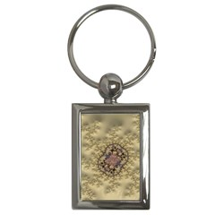 Fractal Art Colorful Pattern Key Chains (rectangle)