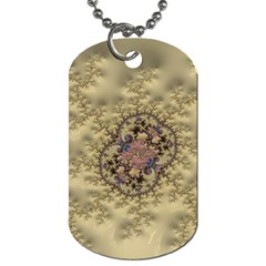 Fractal Art Colorful Pattern Dog Tag (two Sides)