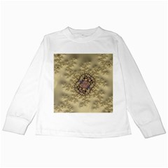 Fractal Art Colorful Pattern Kids Long Sleeve T Shirts