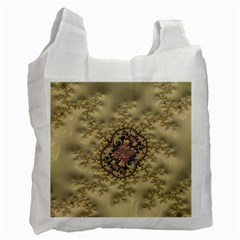 Fractal Art Colorful Pattern Recycle Bag (two Side)