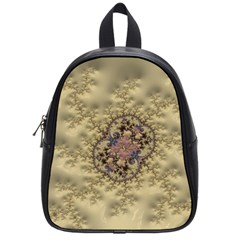 Fractal Art Colorful Pattern School Bags (small)