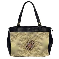 Fractal Art Colorful Pattern Office Handbags (2 Sides)