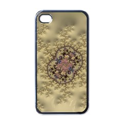 Fractal Art Colorful Pattern Apple Iphone 4 Case (black)