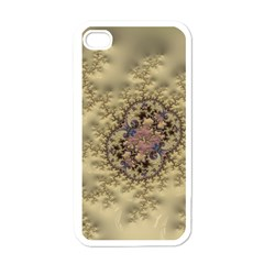Fractal Art Colorful Pattern Apple Iphone 4 Case (white)