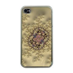 Fractal Art Colorful Pattern Apple Iphone 4 Case (clear)