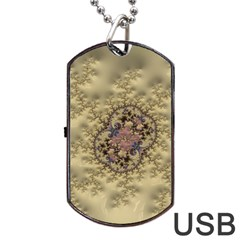 Fractal Art Colorful Pattern Dog Tag Usb Flash (one Side)