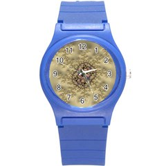 Fractal Art Colorful Pattern Round Plastic Sport Watch (s)