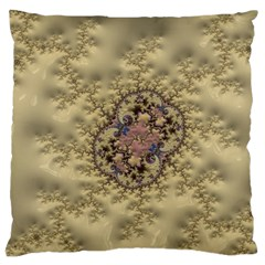 Fractal Art Colorful Pattern Large Cushion Case (one Side)