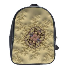 Fractal Art Colorful Pattern School Bags (xl)