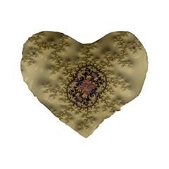 Fractal Art Colorful Pattern Standard 16  Premium Heart Shape Cushions