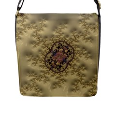 Fractal Art Colorful Pattern Flap Messenger Bag (l)