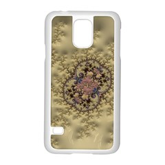 Fractal Art Colorful Pattern Samsung Galaxy S5 Case (white)