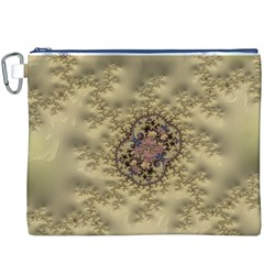 Fractal Art Colorful Pattern Canvas Cosmetic Bag (xxxl)