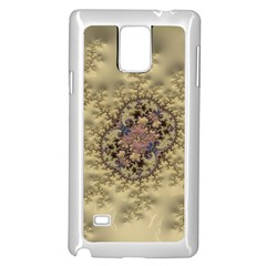 Fractal Art Colorful Pattern Samsung Galaxy Note 4 Case (white)