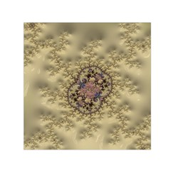 Fractal Art Colorful Pattern Small Satin Scarf (square)