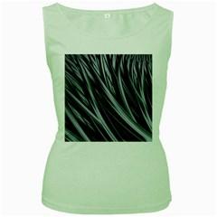 Fractal Mathematics Abstract Women s Green Tank Top