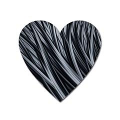 Fractal Mathematics Abstract Heart Magnet