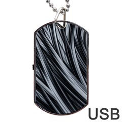 Fractal Mathematics Abstract Dog Tag Usb Flash (two Sides)