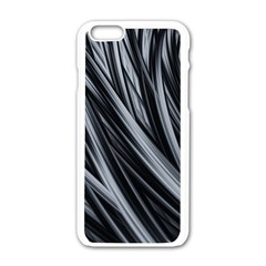 Fractal Mathematics Abstract Apple iPhone 6/6S White Enamel Case