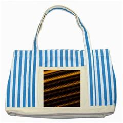 Ornament Stucco Close Pattern Art Striped Blue Tote Bag