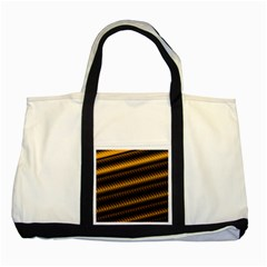 Ornament Stucco Close Pattern Art Two Tone Tote Bag