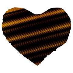 Ornament Stucco Close Pattern Art Large 19  Premium Heart Shape Cushions
