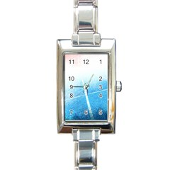 Court Sport Blue Red White Rectangle Italian Charm Watch