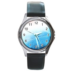 Court Sport Blue Red White Round Metal Watch
