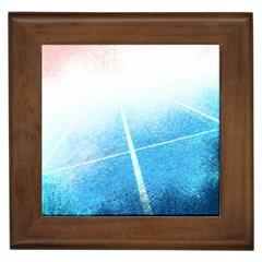 Court Sport Blue Red White Framed Tiles