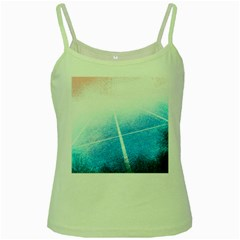 Court Sport Blue Red White Green Spaghetti Tank