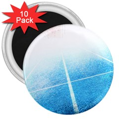 Court Sport Blue Red White 3  Magnets (10 Pack)