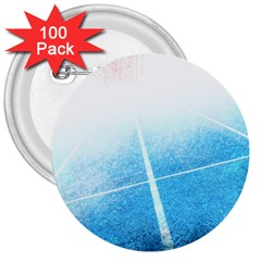 Court Sport Blue Red White 3  Buttons (100 Pack)