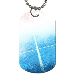Court Sport Blue Red White Dog Tag (one Side)