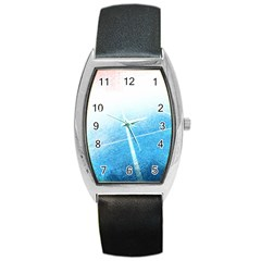 Court Sport Blue Red White Barrel Style Metal Watch