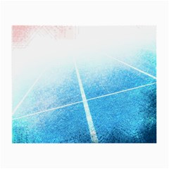 Court Sport Blue Red White Small Glasses Cloth