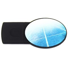 Court Sport Blue Red White Usb Flash Drive Oval (4 Gb)