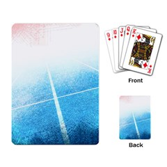 Court Sport Blue Red White Playing Card