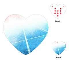 Court Sport Blue Red White Playing Cards (heart)