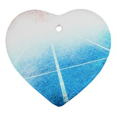 Court Sport Blue Red White Heart Ornament (two Sides)