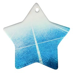 Court Sport Blue Red White Star Ornament (two Sides)