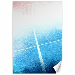 Court Sport Blue Red White Canvas 12  X 18